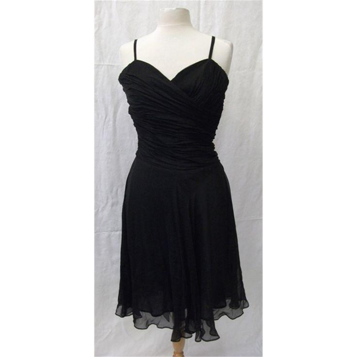 Laura ashley size 8 black cocktail dress oxfam gb - Laura ashley online ...