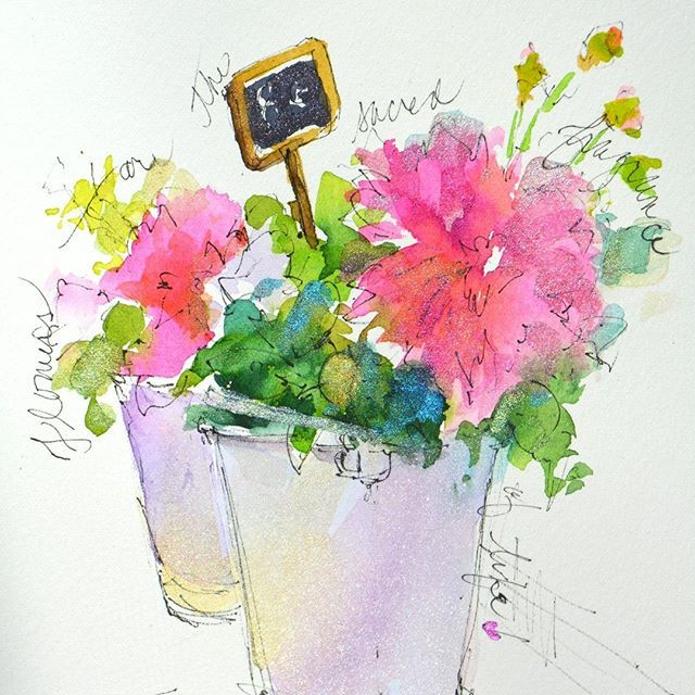 French Flower Shop Watercolor Journal By Dreama Tolle Perry Art