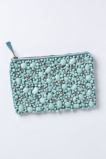this pretty jeweled pouch has a sweet retro feel