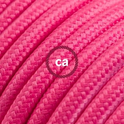 Round Electric Cable covered by Rayon solid color fabric RM08 Fuchsia Choose your country here: Italy: www.creative-cables.it USA: www.creative-cables.com Europe&Australia:www.creative-cables.net www.creative-cables.net #lighting #illuminazione #homedecor #house #haus #maison #hogar #casa #design #fabric #madeinitaly
