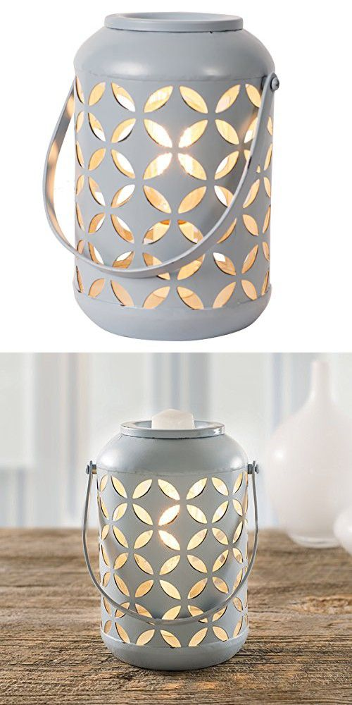 Edison Collection Wax Warmer - 40w Bulb ScentSationals - Air Freshener - Full Size Electric Candle Warmer 120V. Home Décor (Blue)