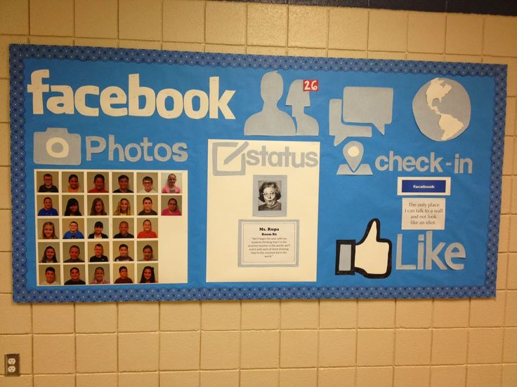 student can relate to this bulletin because so many students know about websites such as facebook