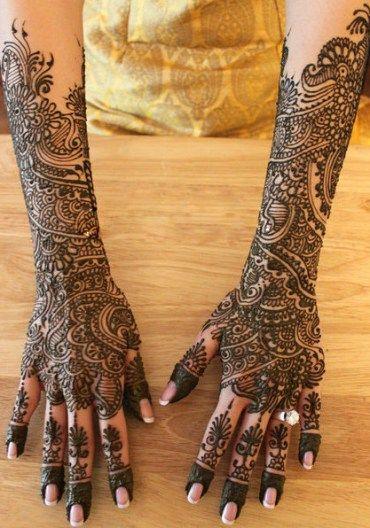 Arabic Mehandi Henna Design for Brides