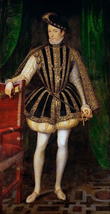 François Clouet --  Charles IX of France. Kunsthistorisches Museum