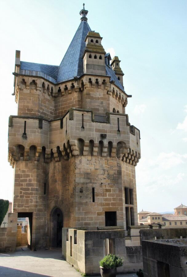 Torre del Castillo Palacio Real de Olite.
