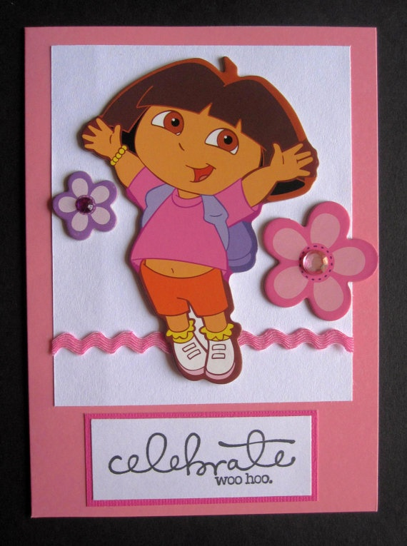 71 best crafts images on pinterest rice pack sewing crafts and handmade dora birthday celebration card celebrate woohoo great for girls http bookmarktalkfo Images