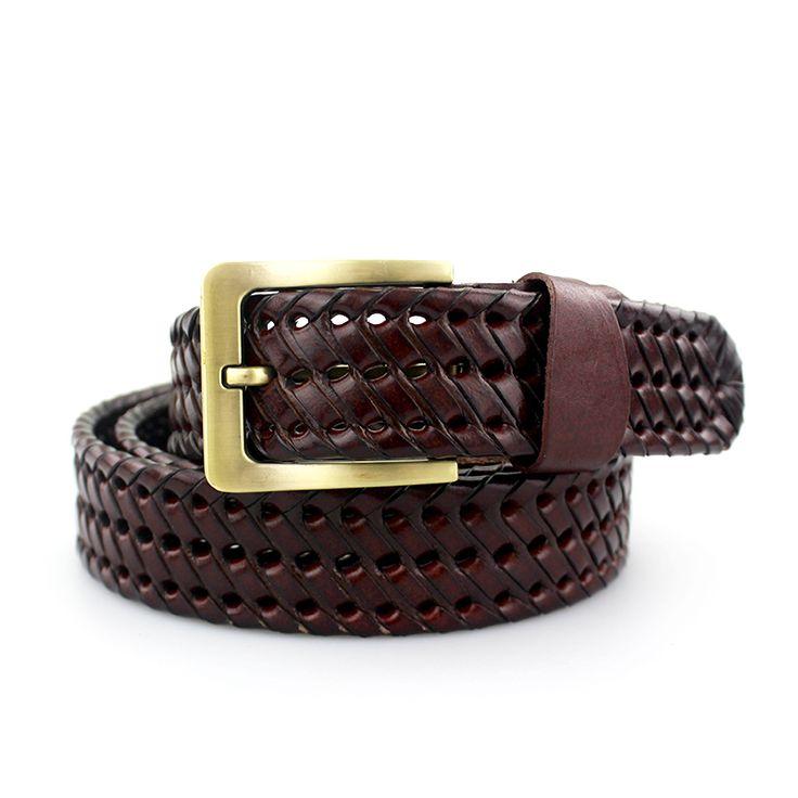 Men's Fashion Genuine Leather Braided Belts