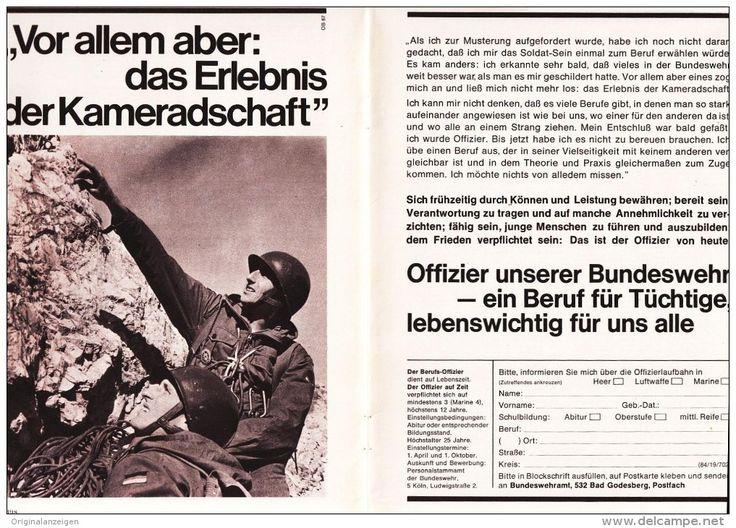 Original-Werbung/ Anzeige 1965 - DOPPELSEITE BUNDESWEHR - ca. 280 x 200 mm