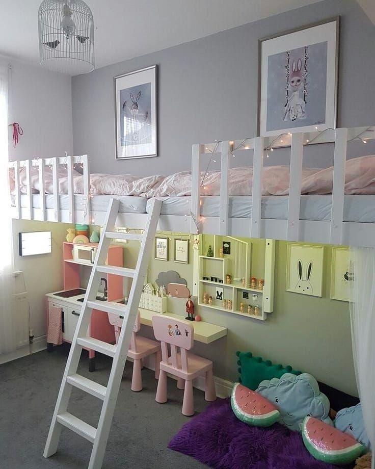 2 Kids 1 Bedroom Img Source Pinterest Homedecor Homeinspo Homeinspiration Decor Decoration Housedecor Ho Girl Room Toddler Playroom Kid Room Decor