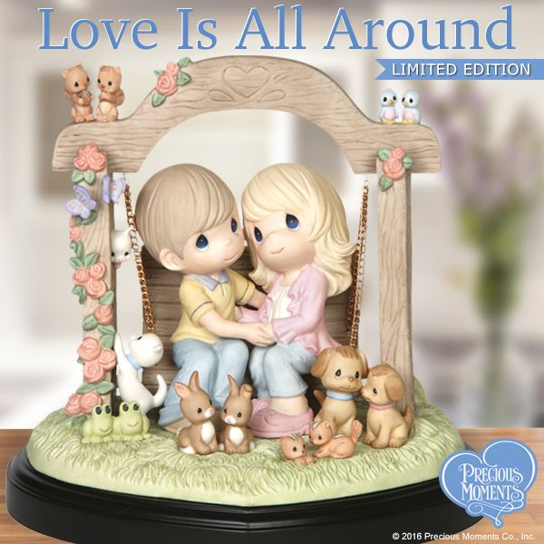 Swing into love with this darling couple and remember, love is everywhere. We just have to stop, sit down and look once in a while.  #PreciousMoments #LifesPreciousMoments #LoveIsAllAround #Love #LimitedEdition #CouplesInLove