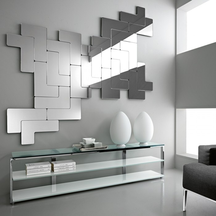 Geometric , abstract and #modern #mirror design! We'd welcome the challenge  of a project like this! | Amazing MIrrors! | Pinterest | Modern mirror  design