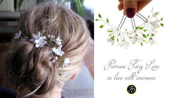 Wedding hair piece cherry blossom wedding hair comb bridal