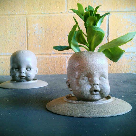 Give that green thumb a workout. | 17 Things You Can Do With Doll Heads