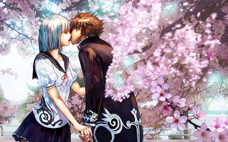 cute anime couple photo