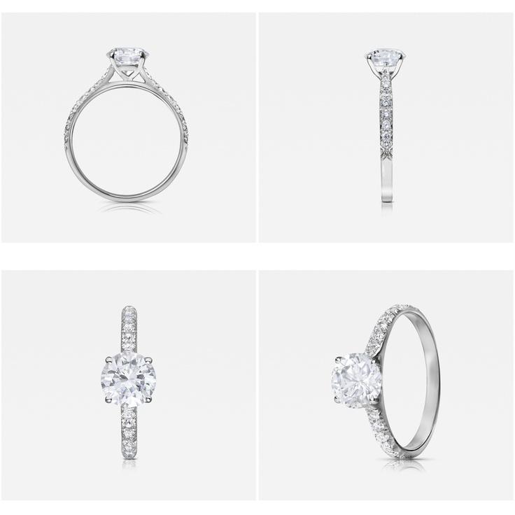 Contour Vintage engagement ring by 77 Diamonds