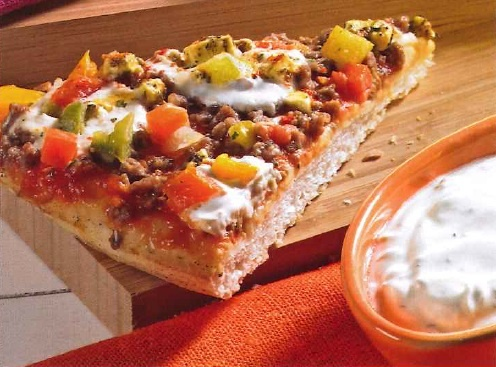 Turkish Lahmacun Style met mintsaus:   1 Dr. Oetker Turkish Lahmacun Style,    1 knoflookteen,  300g yoghurt,    1 el fijngehakte munt,    2 el olijfolie,    1 el kruidenazijn,    1 tl gedroogde peterselie,    Worcestersaus,    zout en peper.      Bereiding: bak de pizza af. Meng de yoghurt met knoflook, mint, olie, azijn en peterselie  en breng op smaak met peper, zout en worcestersaus. Pizza in stukken snijden en serveren met de saus. Eet smakelijk!