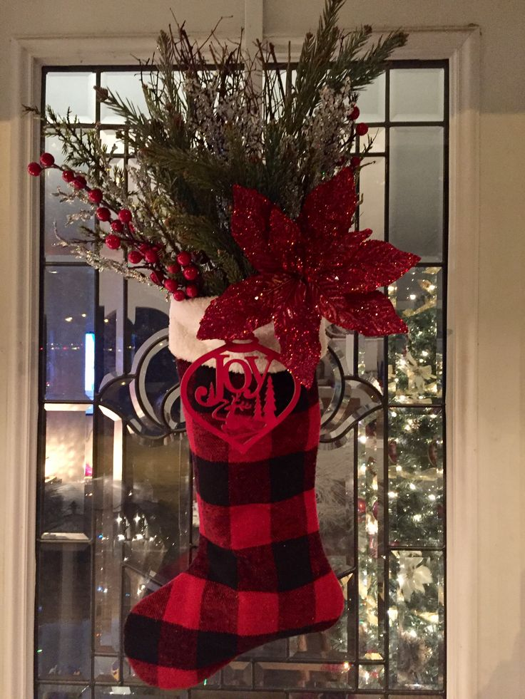 Christmas stocking for door or fireplace