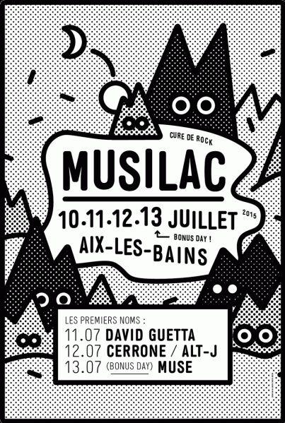 Affiche du festival Musilac 2015, Aix-les-Bains