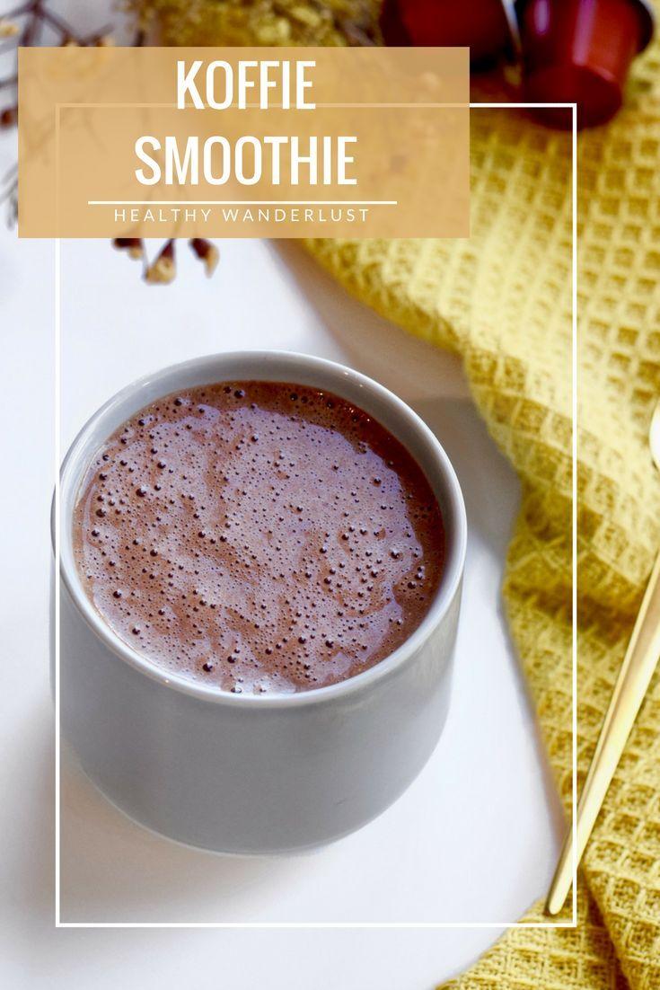 Begin de dag vol energie met deze koffie smoothie als ontbijt - Recept is te vinden op Healthy Wanderlust