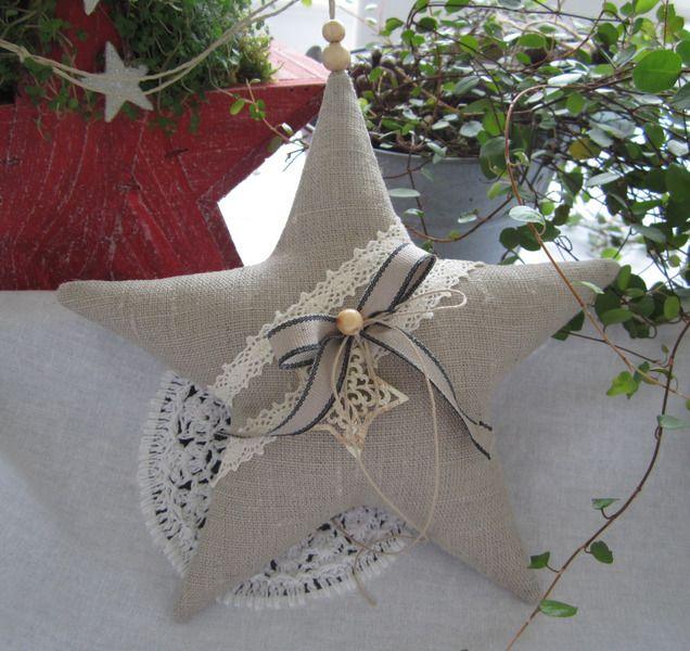 Stern-Weihnachten  im Landhaus - Stil von Feinerlei auf DaWanda.com                                                                                                                                                                                 Mehr
