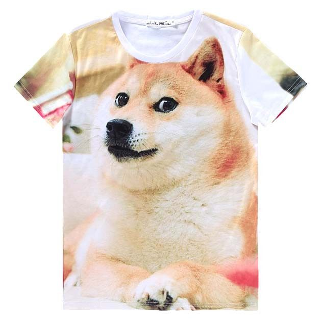 Shiba Inu Puppy Doge Animal Meme All Over Graphic Print T-Shirt | DOTOLY