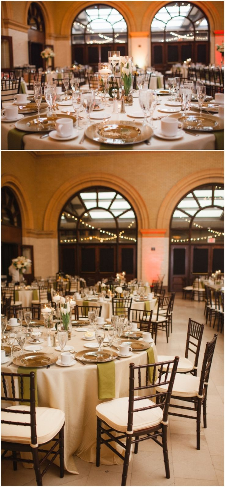 outdoor wedding venues minneapolis%0A Champagne and Green wedding decor  Minneapolis Depot Hotel