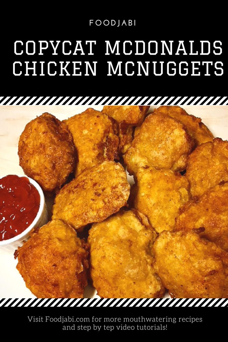 Foodjabi brings you the copycat version of of mcdonalds chicken mcnuggets. Detailed recipe and step by step video tutorial on Foodjabi.com