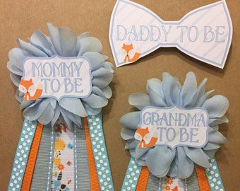 Fantastic idea for baby shower name badges