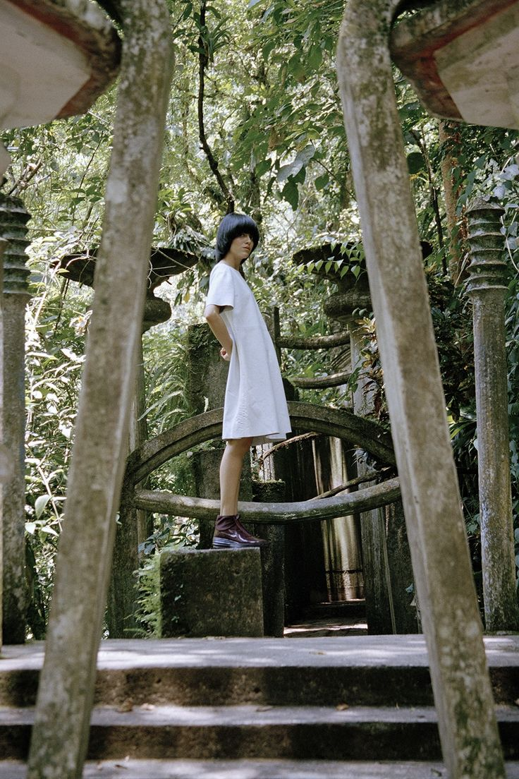 Juxtapoz Magazine - Amanda Charchian in Las Pozas for ID Amanda, Fashion Photography, Vogue, Exterior, Magazine, Outdoor, Image, Plant, Culture