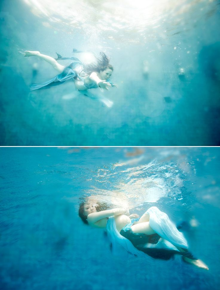 Gorgeous under water maternity photo