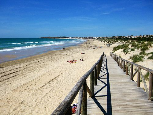 La Barrosa Beach, Chiclana, Cadiz, Andalucia, Spain.