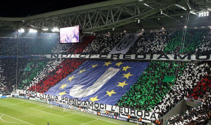 Juventus vs. Chelsea FC fantastica coreografia in curva sud