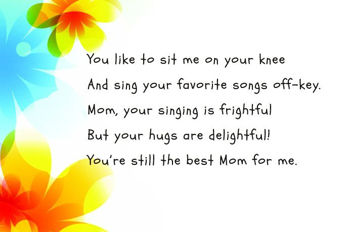 Happy Mother's Day Poems 2018
