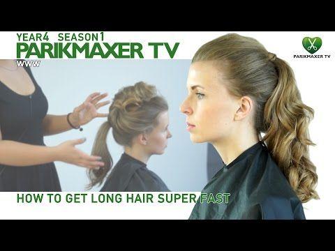 Прическа объемный хвост How to make long hair very fast парикмахер тв parikmaxer.tv - YouTube