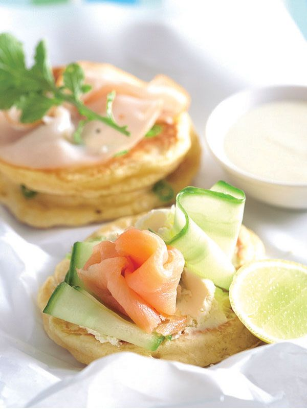 Spring Onion Crumpets With Savoury Toppings