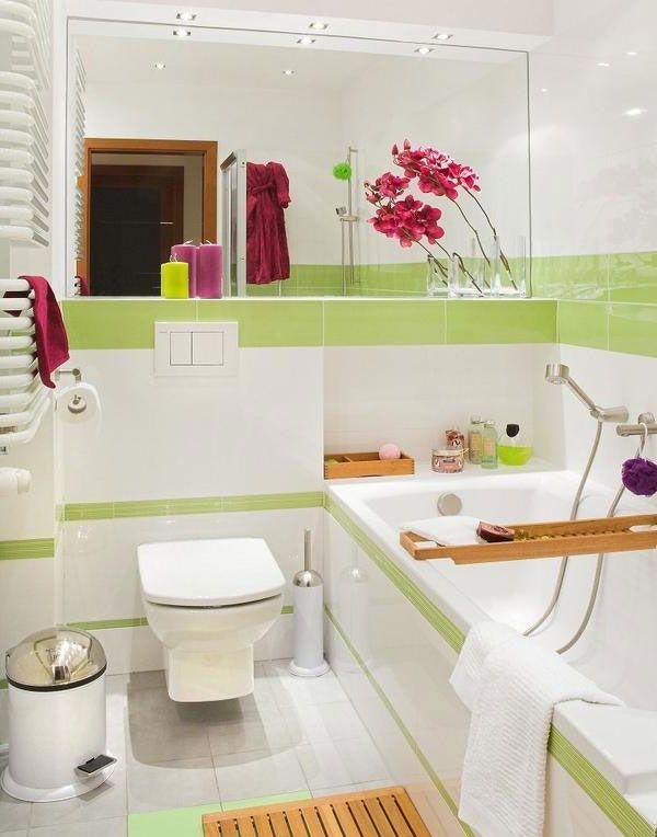 Фото дизайнерских решений для маленьких ванных комнат
