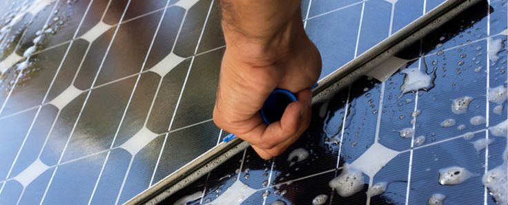 Learn how to Clean Your Solar Panels with our handy DIY guide. #solar #solarpower #solarenergy #solarpanels