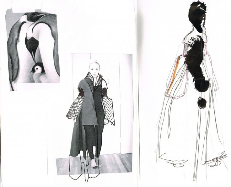 Fashion Sketchbook - fashion drawings & the development of a design // Seena Shahmardi
