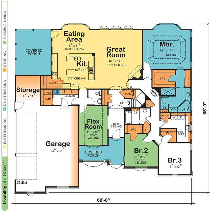 House Plan Samples One Story Plans With Open Floor Design Basics