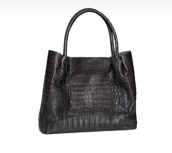 #Crocodile Ruched #bag. Handmade in Colombia. This soft and chic tote of rich croc skin, perfectly sized for all your essentials. $1750