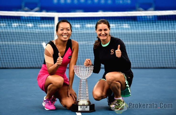 1/9/16 American Splendor: World #1 Rena & Vee starting their 2016, Vania wins with Monica in Shenzhen where Alison is Runner-Up in singles, Sloane wins in Auckland, and in the big tournament, Samantha Crawford is a Semifinalist in Brisbane ... Shenzhen Open Doubles Champions Vania King (L) of the United States and Monica Niculescu of Romania ...