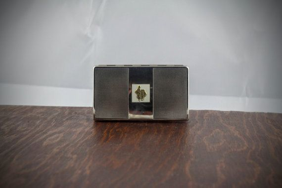 Vintage Yardley of London Compact  Silver Silver by LoAndCoVintage
