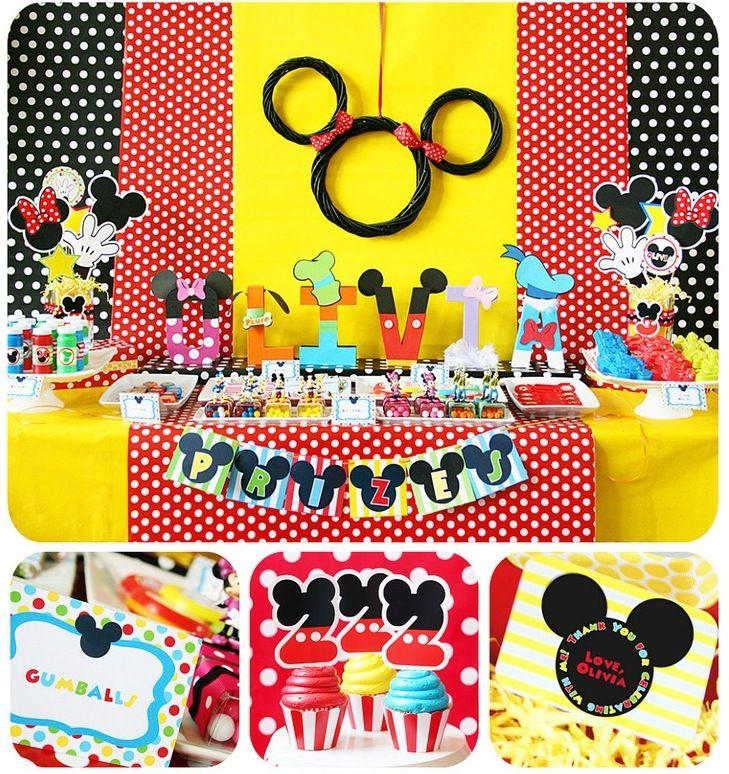 25 Decorações de Aniversário do Mickey e da Minnie