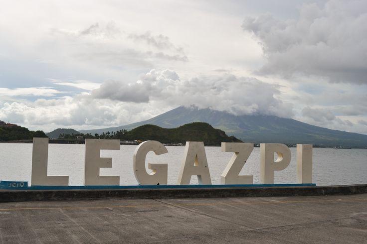 Legazpi boulevard with a killer background