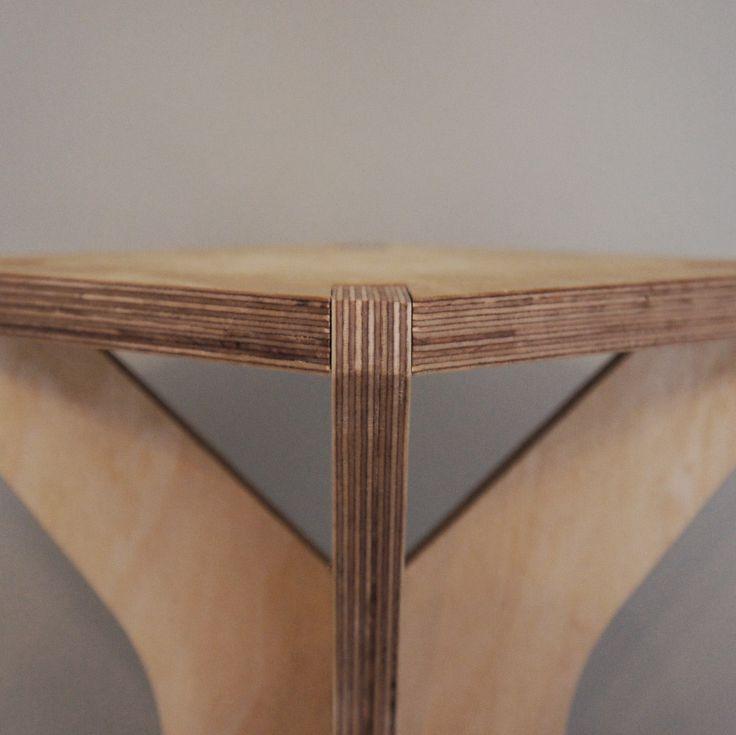 stool and occasional table - detail - birch plywood furniture - flatpack - nomadic design studio - bespoke - handmade