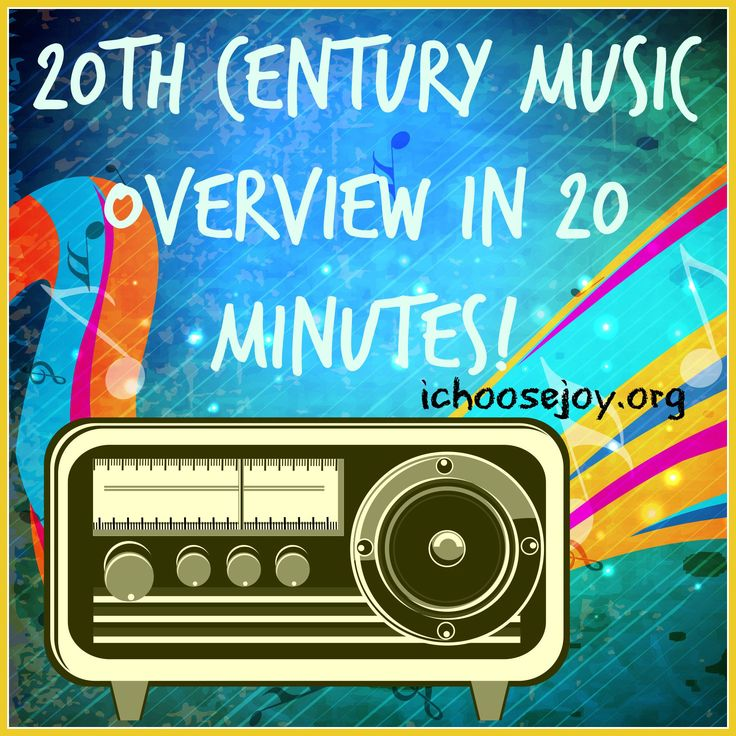 20th Century Music Overview in 20 Minutes. Pick up this freebie at ichoosejoy.org (see it in the sidebar)