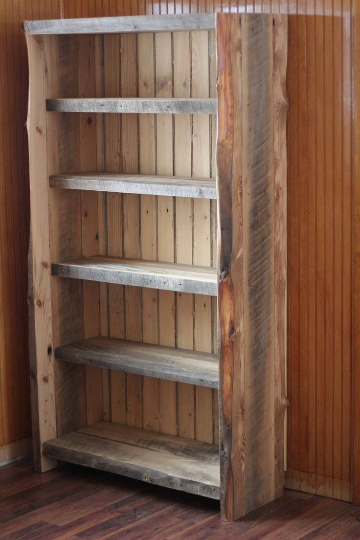 17 best ideas about reclaimed wood bookcase on pinterest for Reclaimed wood bookcase diy