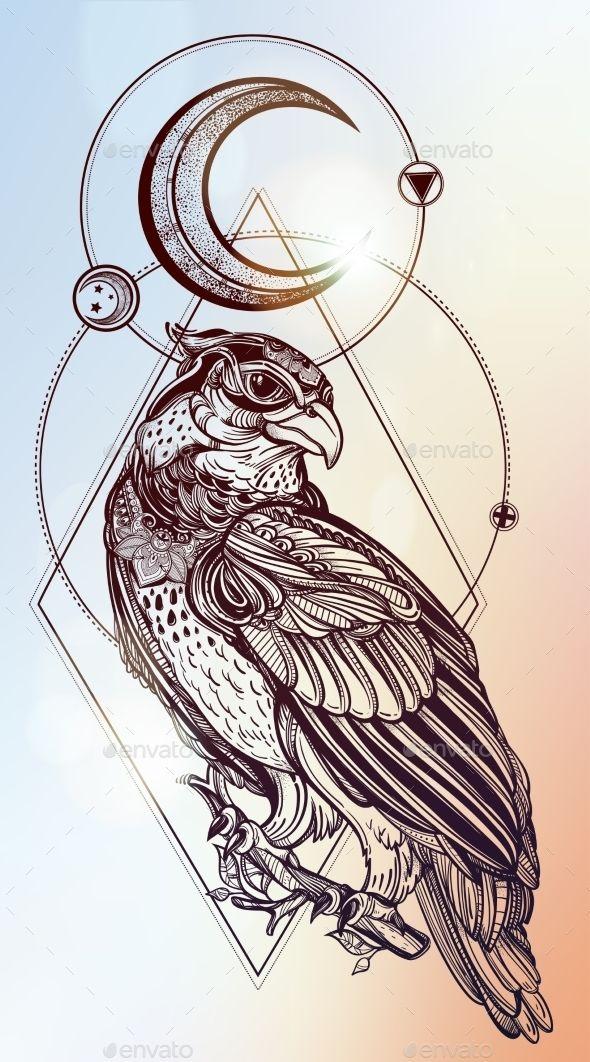 love2bthings — Detailed Hand Drawn Bird Of Prey. (Tattoos)