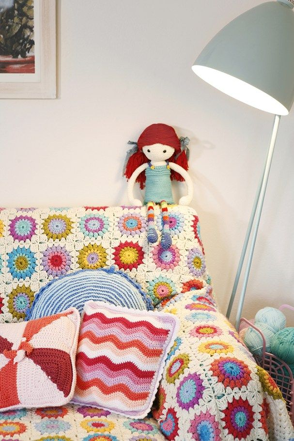Girl's room full of crochet loveliness | Cherry Frog