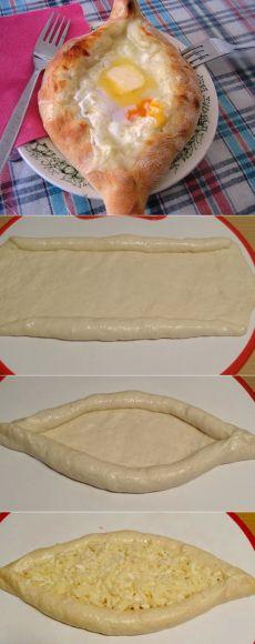 Хачапури по-аджарски — очень вкусный рецепт!   ГОТОВИМ ВКУСНО И ПО-ДОМАШНЕМУ